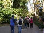 美術博物館横を通り、沖野へ