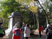 聯隊記念碑の台座