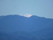 わずかに見られた富士山