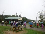 雨の中での観察会
