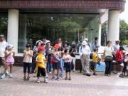 豊橋市美術博物館前に集合