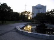 日没直後の豊橋公園と市役所