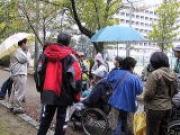 吉田城の石垣の解説、解説は間瀬さんでした。