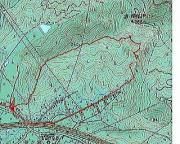 本日の観察コース:国土地理院25,000図とカシミール3DによるGPS軌跡