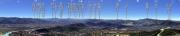 吉祥山からの山岳展望図 国土地理院地形図とカシミール3Dで作成