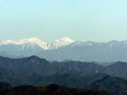 吉祥山からの南アルプス、光岳ほか