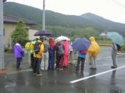 雨の観察会 衣笠市民館前