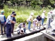 今も生活の一部のわき水の水質検査