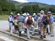 浜名湖に注ぐ今川での水生生物の観察