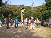 権現の森広場でのミーティング