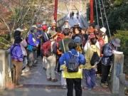 笠岩橋での自然解説