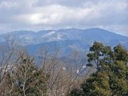 雪景色の本宮山