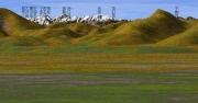カシミール3Dでの同じ場所での山岳展望作図