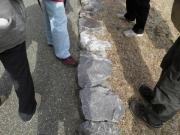 公園の園路の製品化された領家の岩石