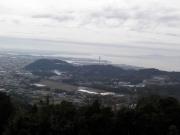 展望台からの三河湾のようす