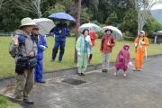 小雨の中の観察会