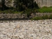 川の流向と礫の向きに注目