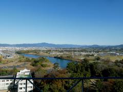 豊橋市役所13階から眺める豊川流域