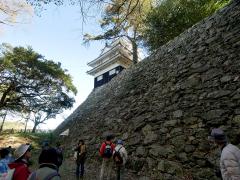 吉田城趾の野面積み